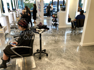 Quality Metallic Epoxy Floor at Toni and Guy Hair Salon