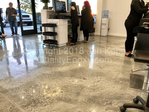 Quality Metallic Epoxy Floor at Toni and Guy Hair Salon, Gilbert, AZ