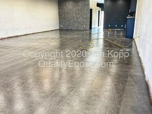 Quality Metallic Epoxy Floor at Xanderlyn Hair Salon