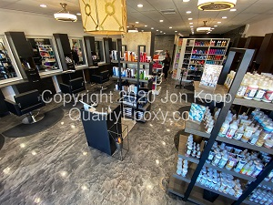 Quality Metallic Epoxy Floor at Xanderlyn Hair Salon, Scottsdale, AZ